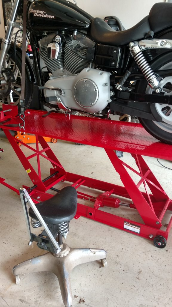 Harbor Freight 1000 Motorcycle Table Lift Initial Setup